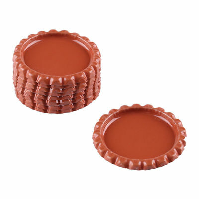"""10pcs Tan Flat Double Sided Colored 1"""" Bottle Caps DIY Scrapbooking Crafts"""