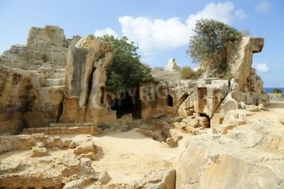 """Bildmotiv """"Tombs of the Kings, an ancient necropolis in Paphos."""""""