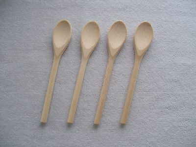 """Small Wooden Spoon 16cm 6.2"""" (set of 1, 4, 30, 50)"""