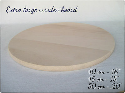 Extra Large XL Wooden Serving Cheese Pizza Cake Round Board
