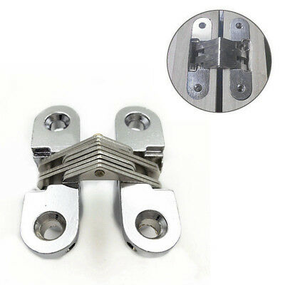 2x Hidden Hinge Stainless Steel Invisible Hinges Concealed Wooden Box Hot Sale