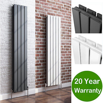 Vertical Flat Panel Column Designer Radiators White Anthracite Central Heating