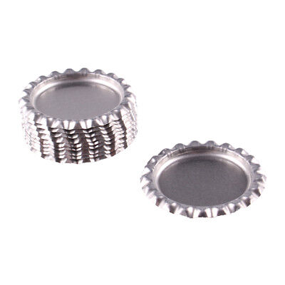 """10pcs Silver Flat Double Sided Colored 1"""" Bottle Caps Hair Bow DIY Crafts"""