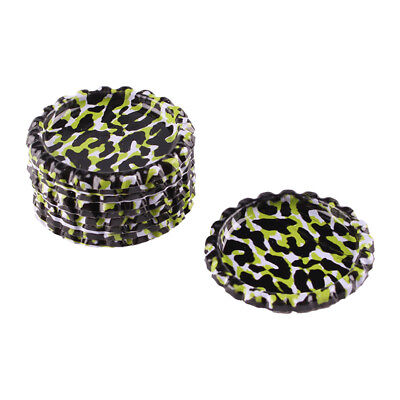 """10pcs Green Leopard Flat Double Sided Colored 1"""" Bottle Caps DIY crafts"""
