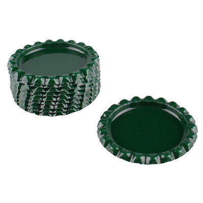 """10pcs Dark Green Flat Double Sided Colored 1"""" Bottle Caps Hair Bow DIY Crafts"""