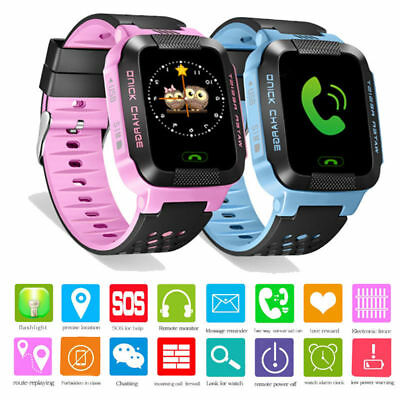 AU SELLER Children Kids Anti-Lost Smart Watch GPS Tracker For Android IOS Phone