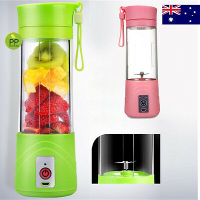 AU Portable Electric Mini Blender Fruits Juicer Rechargeable Smoothie Machine