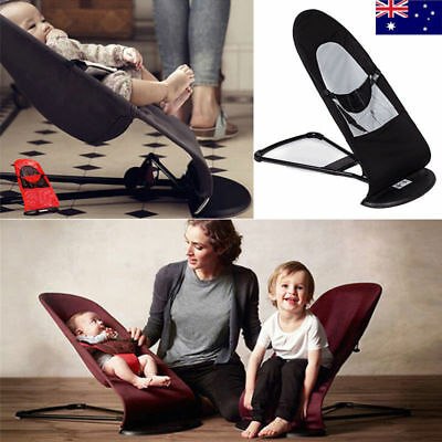 AU Safe Newborn Support Soft Toddler Rocking Balance Folding Chair Baby Bouncer