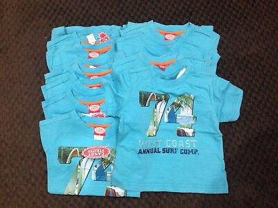 Bulk Wholesale Lot x 11 Sell at Markets Boys Surf Tee