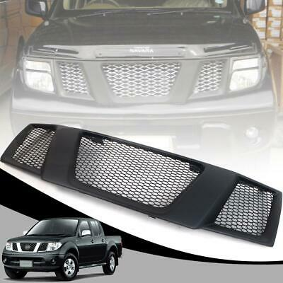 Front Grill Grille Matte Black For Nissan Navara Frontier D40 Pickup