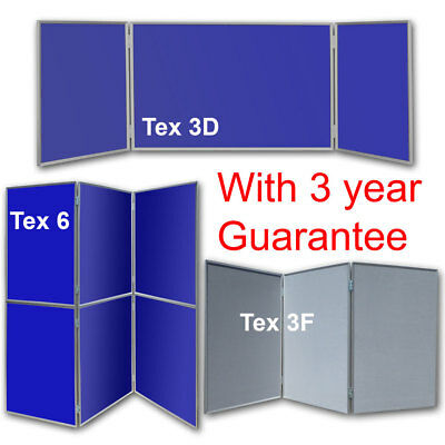 Exhibition Folding Display Boards Aluminium 6 & 3 Panels Light Strong Quick Easy