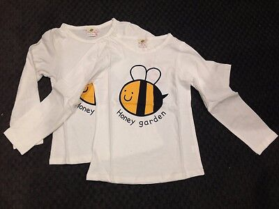 Bulk Wholesale Lot x 2 Sell at Markets Boys/Girls Long Sleeve Bee Tee