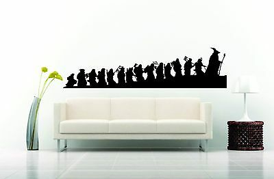 Wall Sticker Decal Vinyl  Interior Design Tolkien Ring Gandalf Frodo Hobbit