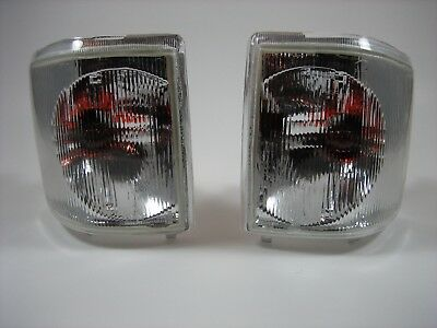 94-99 Land Rover Discovery 1 Front Turn Signal Marker Lamp Set CLEAR LENSES