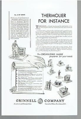 Vintage, Original, 1930 - Thermolier Heater Advertisement - Grinnell Company