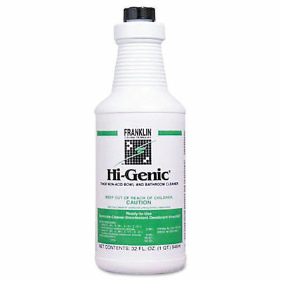 Franklin Cleaning Hi-Genic Non-Acid Bathroom Cleaner 32oz 12/ctn F270012CT NEW