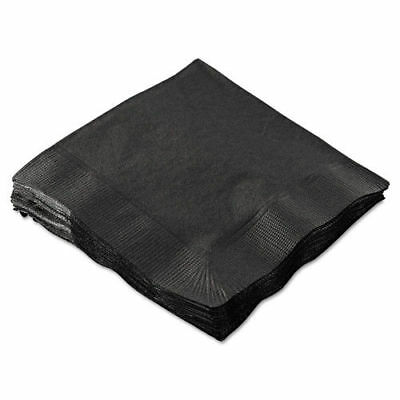 Hoffmaster Beverage Napkins, 2-Ply, 9 1/2 X 9 1/2, Black, 1000/carton 180313 NEW