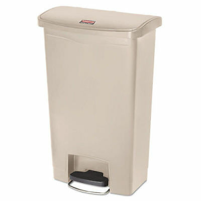 Rubbermaid Slim Jim Resin Step-On Container Front Step 13Gal Beige 1883458 NEW