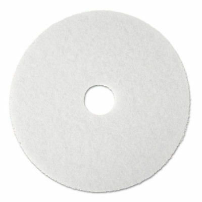 "3M Super Polish Floor Pad 4100, 20"" Diameter, White, 5/carton 8484 NEW"