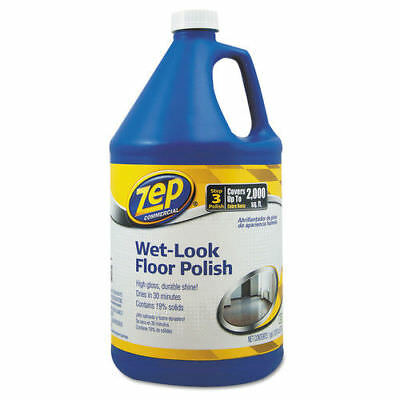 Zep Commercial Wet Look Floor Polish, 1 Gal Bottle  1044898 New