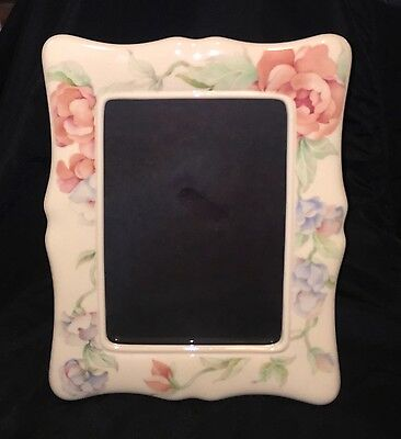LENOX Chatsworth Floral LARGE 10 x 8 Picture Frame Holds 5x7 Photo RARE