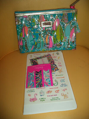 Nwt Lilly Pulitzer Agenda Bonus Pack Beach And Bae - Pen, Stickers, More