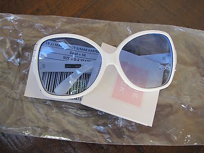 Janie and Jack Blue Belle Tinted White Sunglasses 0-2 Years NWT! VHTF! $14