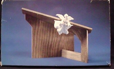 Avon Nativity Collectibles THE STABLE for White Porcelain Bisque Figurine Creche