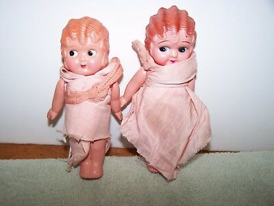 Celluloid Pair of Betty Boop Style Googly Eye Celluloid  Dolls