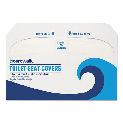Boardwalk Prem. Half-Fold Toilet Seat Covers 250/sleeve 20 Sleeves/ctn K5000 NEW