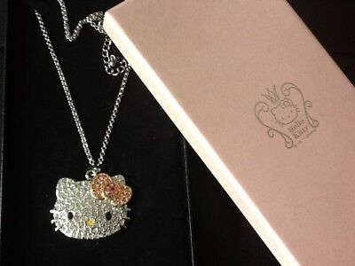Authentic Sanrio Hello Kitty Crystal Necklace