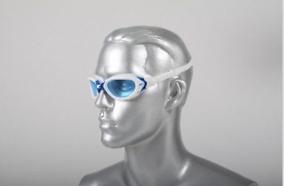 Zoggs predator flex goggles White/Blue with free pouch Flexpoint technology