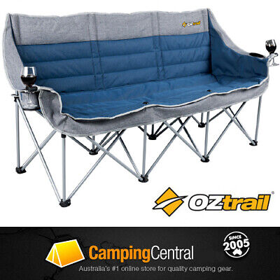 Oztrail Galaxy (3 Seater) Sofa Moon Chair Arms Picnic Camp Outdoor Seat Portable