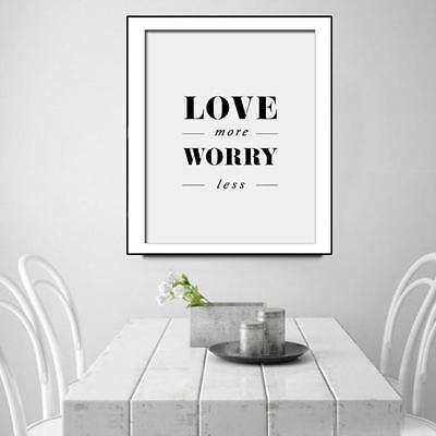 Motivational Quotes Poster Prints Nordic Home Decor Art Oil Canvas Painting - S