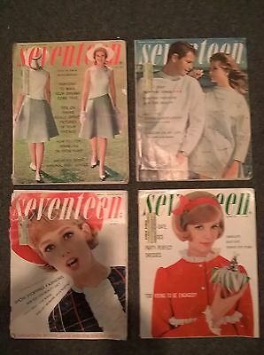 Seventeen Magazine - 1962 - 4 Issues - May June July December