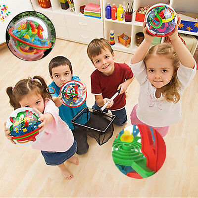 Puzzle Kid Toys and Intellect Ball Balance Game 3D Spherical Maze 75 Barriers^_^