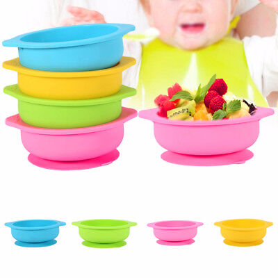 Colorful Silicone Mat Baby Kids Suction Table Food Tray Placemat Plate Bowl Dish