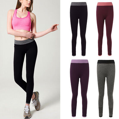 Women Yoga Leggings Fitness Pants Running Gym Sports High Waist Workout Trousers