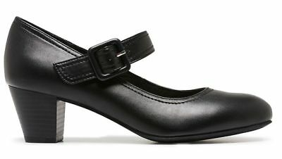 Grosby Isli Black Closed Toe Womens Work Casual Ladies Mary Jane Shoes
