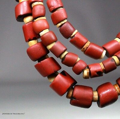 Native American Shell & Venetian Old Trade Beads Great Lakes Indians NY 1700's