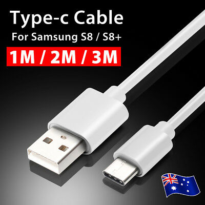 Type-C Rapid USB Data Charger Cable For Samsung Galaxy S8 S8+ S9 S10 Long 2M 3M