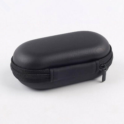 Portable Earphone Headphone Earbuds Cable Disk Storage Hard Case Bag Pouch Black
