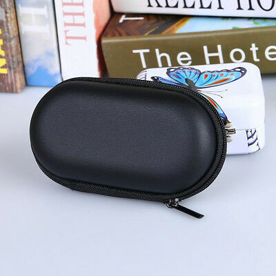 Black Portable Storage Bag Hard Hold Case For Earphone Earbuds Mp3 USB Cable