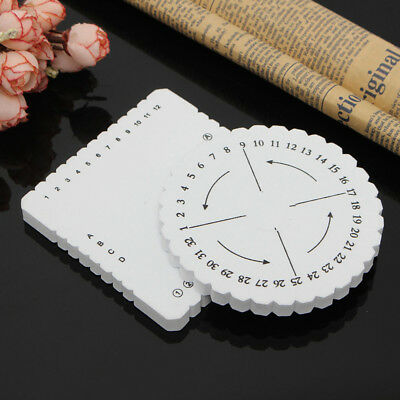Round Square Bracelet Knitting Disc Tray Braided Rope Knot Knitting Tool 1Pcs