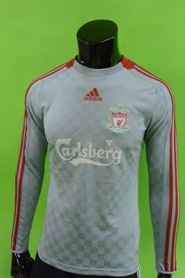 The Reds 2008-10 adidas Liverpool FC Away Shirt Long Sleeve SIZE S (adults)