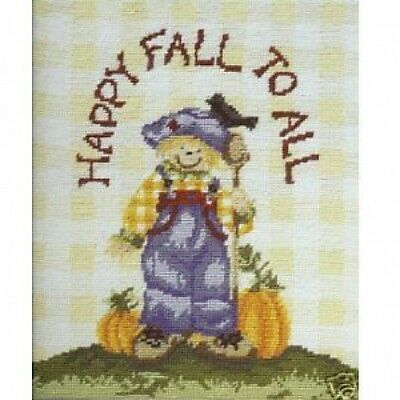 Boy Scarecrow Printed Tapestry Canvas  DMC (24cm x 28cm)