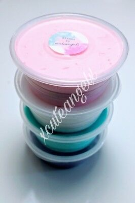 Special offer 'Unicorn' pack of 4 large tubs fluffy slime Stress toy