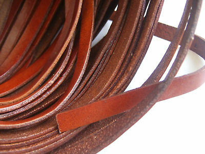 Red Brown High Quality 8mm/10mm Flat Real Genuine Leather Cord String Lace Thong