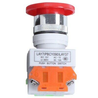Red Mushroom Head Momentary Switch Push Button Station PK