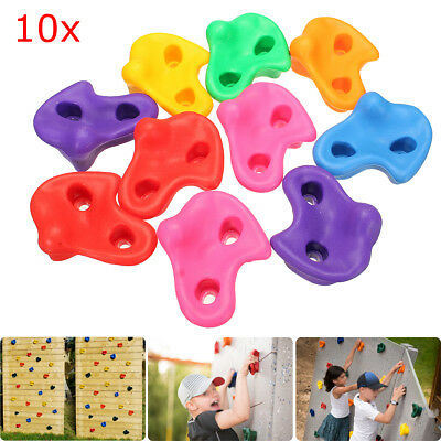 10Pcs Kit Textured Climbing Rock Wall Stones Kids Assorted Color Assorted Bolt